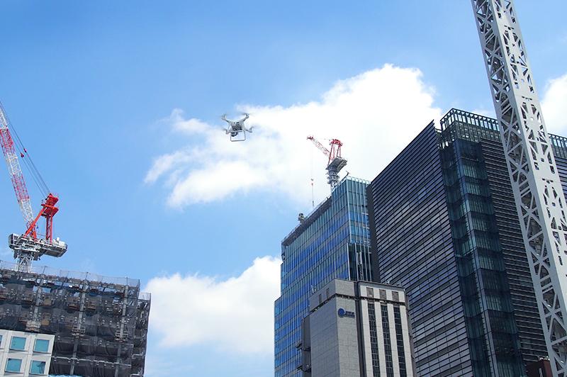 ドローン実証実験を行った「日本橋室町3丁目地区第一種再開発事業A地区」(写真提供:三井不動産)