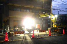 夜間工事の騒音は仕方ない?切り管だらけの水道管工事は嫌だ!