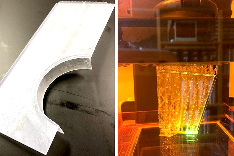 3Dプリンターで製作したプラント床材モデル