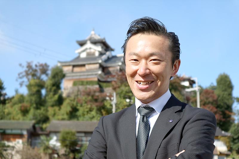 後継者(?)の西田副社長と福知山城