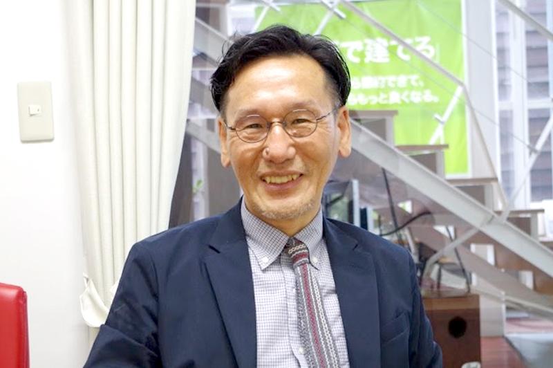 プラスエム設計代表、山中省吾氏。インタビューはプラスエム設計米子オフィスにて行った