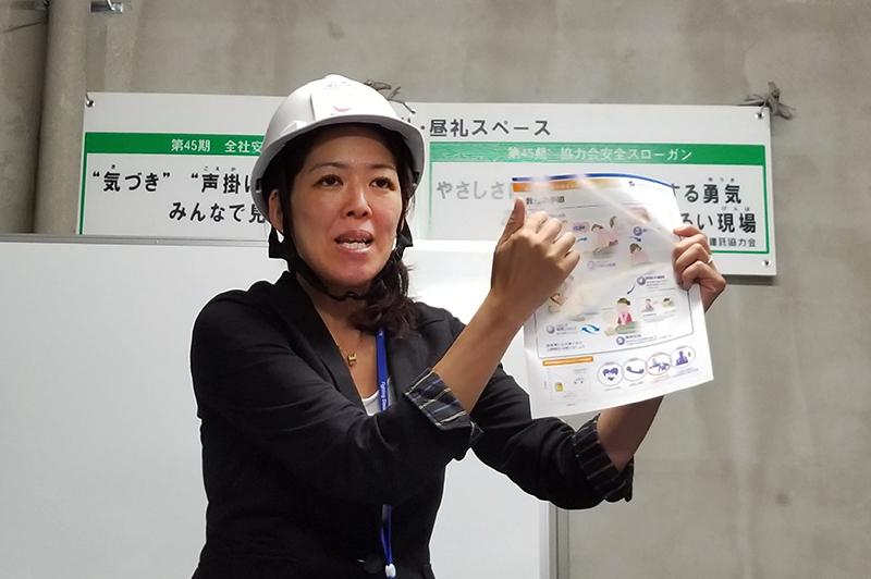 日本光電工業営業本部GP営業統括部AED営業部一課所属で、看護師の小関晶子さん