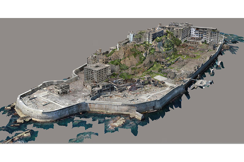 3Dデータ化した軍艦島