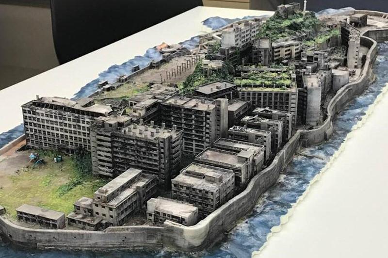 軍艦島の3D模型