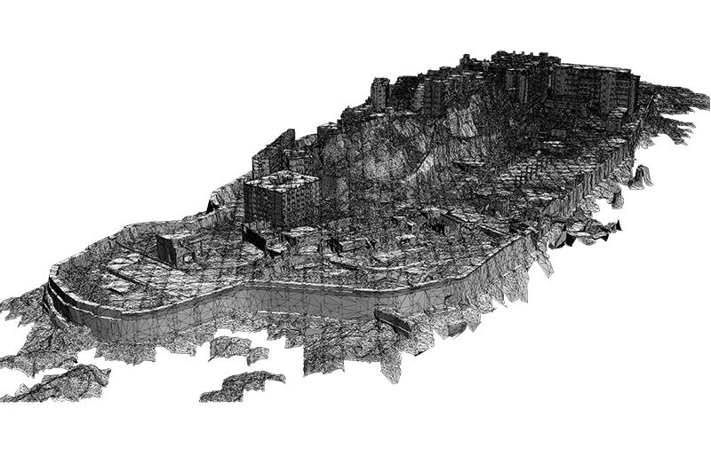 3Dデータ化された軍艦島
