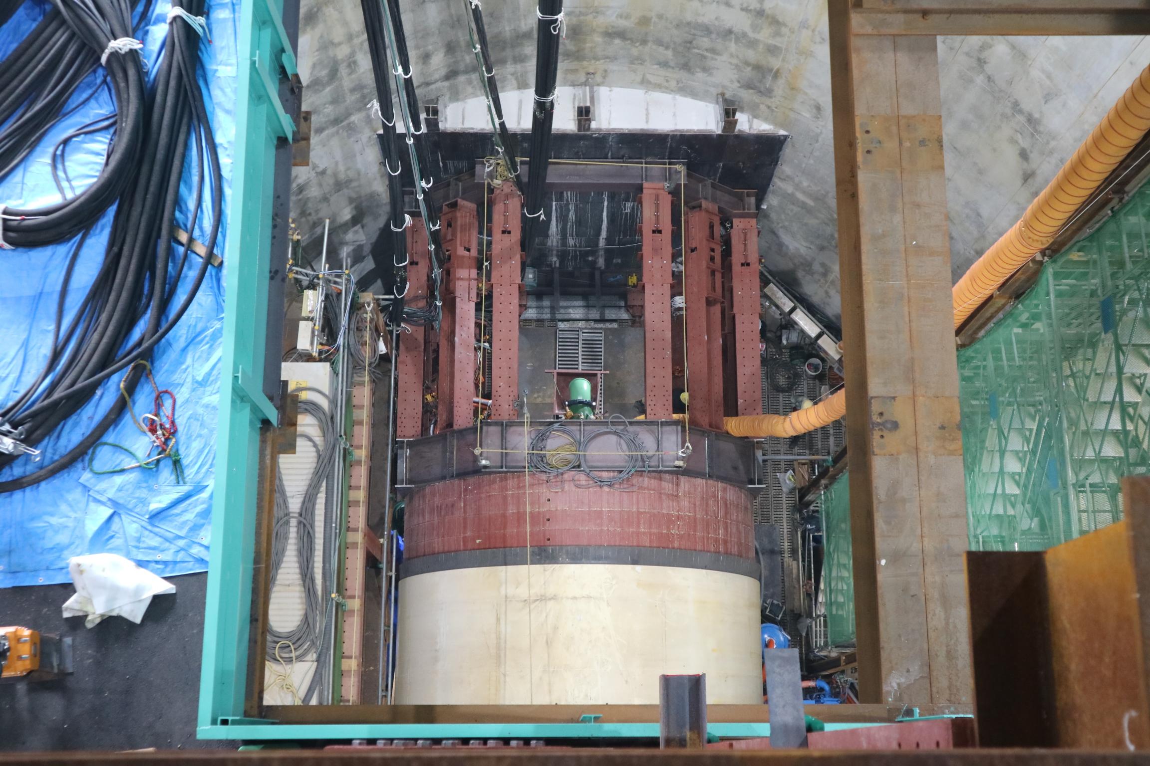 高尾川地下河川築造工事で発進したシールドマシン