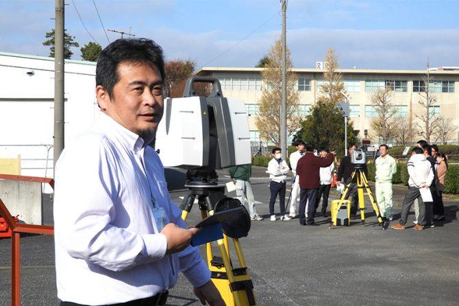 関東技術事務所建設技術展示館(千葉県松戸市)で開催された、関東地方整備局と日本道路建設業協会による「i-Construction技術講習会」
