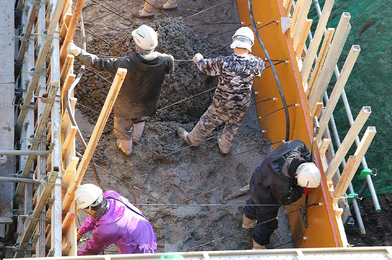 コンクリート打設前には方法を確認している