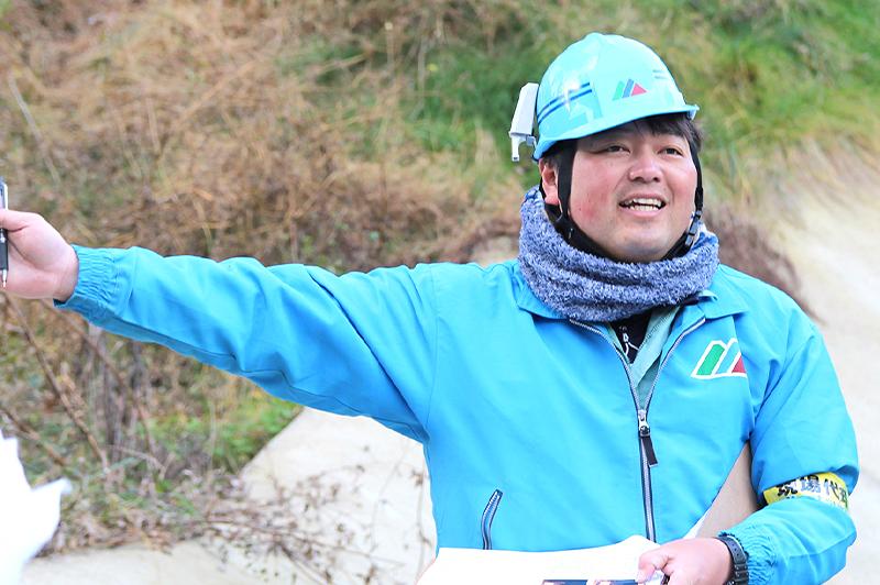 現場代理人の岡本潤氏。現場での取り組みを披露