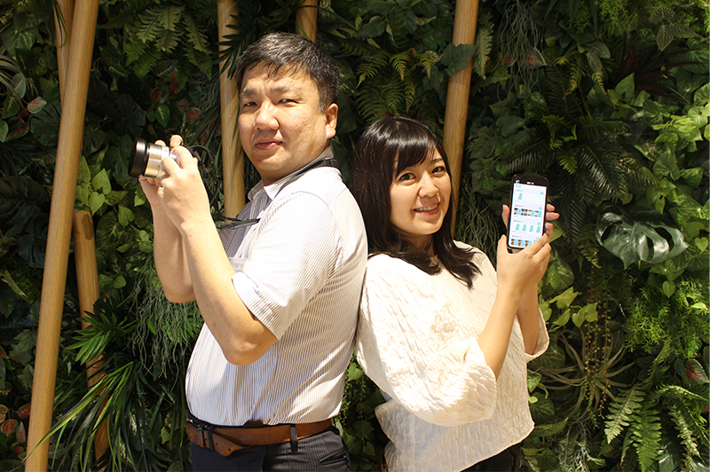 『ZENGO』の開発を担当した株式会社ルクレの柏木真太郎さん(左)と野村絵里奈さん