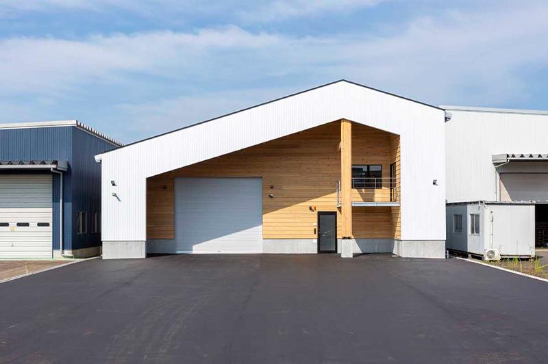 建築した木造倉庫