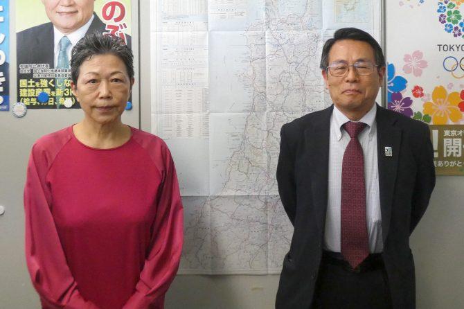 東北建設業協会連合会の大槻良子専務理事兼事務局長(左)、伊藤友良技術顧問(右)