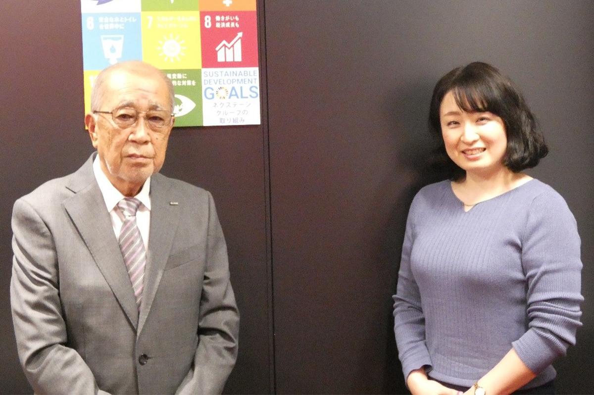 左から、メッドコミュニケーションズ株式会社の渡辺裕之さん、株式会社NEXTAGE GROUPの広報課の鶴岡美保さん