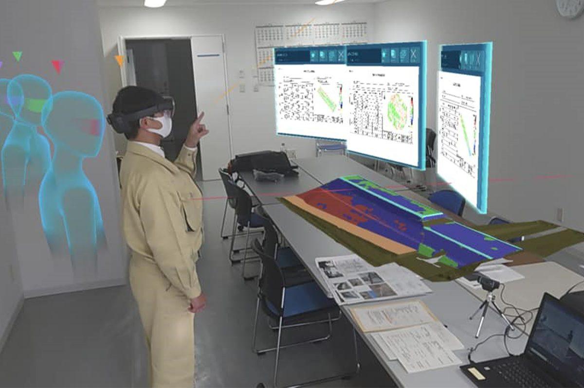 日本マイクロソフトと共同開発している「Holostruction」(ホロストラクション)事業